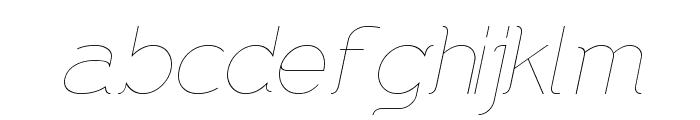 DNNR  LightItalic Font LOWERCASE