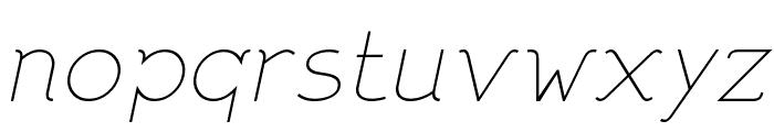 DNNR  MediumItalic Font LOWERCASE
