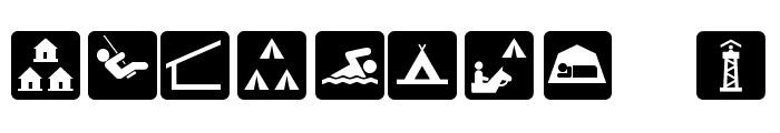 DNR Recreation Symbols Font OTHER CHARS
