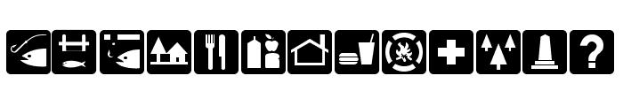 DNR Recreation Symbols Font UPPERCASE