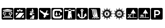 DNR Recreation Symbols Font LOWERCASE