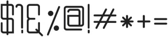 DOMINO Regular ttf (400) Font OTHER CHARS
