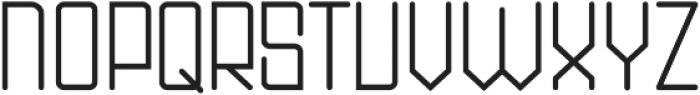 DOMINO Regular ttf (400) Font UPPERCASE