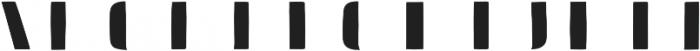 Doblo Fill B otf (400) Font LOWERCASE