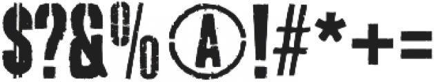 Dogjaw otf (400) Font OTHER CHARS