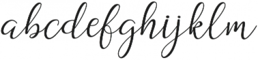 Dogma Script Regular otf (400) Font LOWERCASE