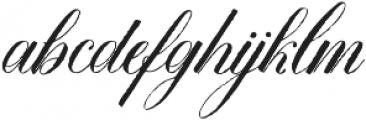DomLovesMary Contextual Regular otf (400) Font LOWERCASE