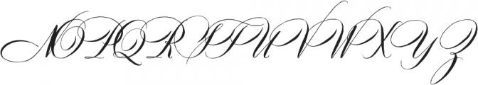 DomLovesMary Regular otf (400) Font UPPERCASE