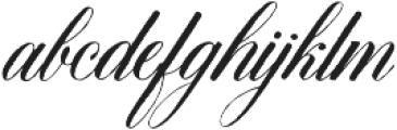 DomLovesMary Regular otf (400) Font LOWERCASE
