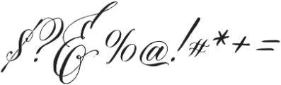 DomLovesMary Stylistic Regular otf (400) Font OTHER CHARS