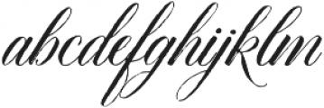 DomLovesMary Stylistic Regular otf (400) Font LOWERCASE
