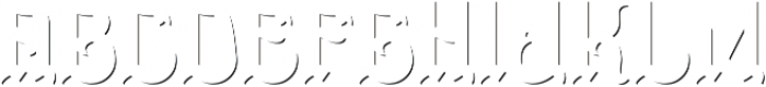 Doncaster ShadowFX otf (400) Font LOWERCASE