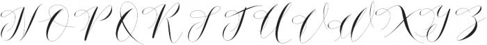 Donita Handscript Regular otf (400) Font UPPERCASE