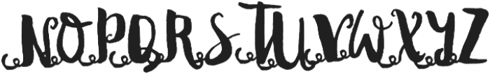DonitaScriptXtras ttf (400) Font UPPERCASE