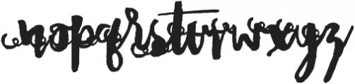 DonitaScriptXtras ttf (400) Font LOWERCASE