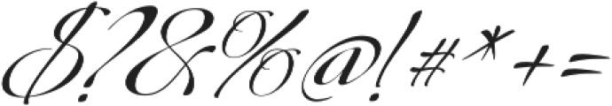 Donna Lena Slanted otf (400) Font OTHER CHARS