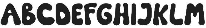 Donoouts Regular otf (400) Font UPPERCASE