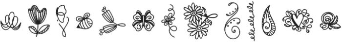 DoodleBug1 Regular otf (400) Font LOWERCASE