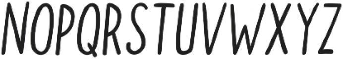 Doodler Regular Italic otf (400) Font UPPERCASE