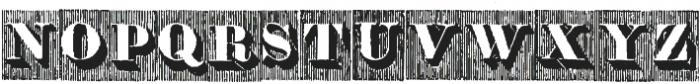 Doppel Mittel Lapidar Azure ttf (400) Font UPPERCASE