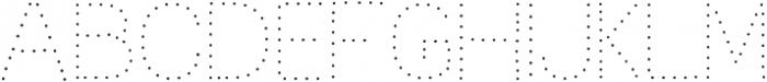 Dots otf (400) Font LOWERCASE