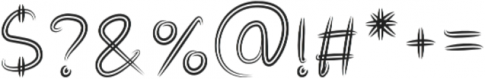 Double Draw Bold otf (700) Font OTHER CHARS