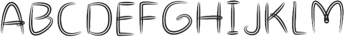 Double Draw Bold otf (700) Font UPPERCASE