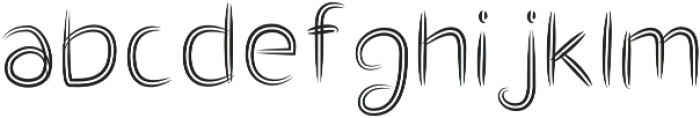 Double Draw Bold otf (700) Font LOWERCASE