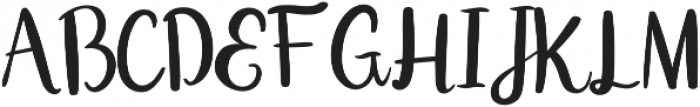 Double Smoothie Script ttf (400) Font UPPERCASE