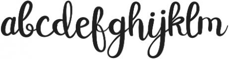Double Smoothie Script ttf (400) Font LOWERCASE