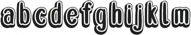 Double Smoothie Vintage otf (400) Font LOWERCASE