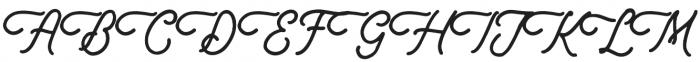 Douglas-Ancaster Script otf (400) Font UPPERCASE