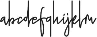 Doupple Signature otf (400) Font LOWERCASE