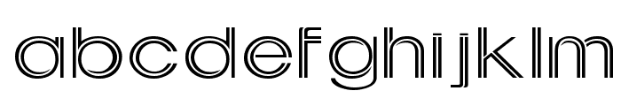 Downtown Wide Normal Font LOWERCASE