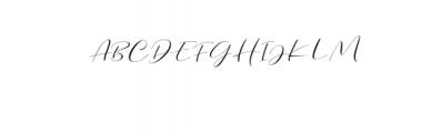 Dorothy Clark Script.otf Font UPPERCASE