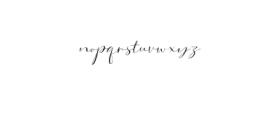 Dorothy Clark Script.otf Font LOWERCASE