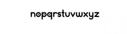 Dot.otf Font LOWERCASE