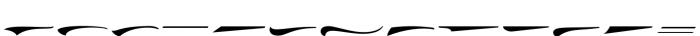 Doedel Swash Font LOWERCASE