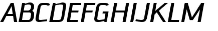Downtempo Italic Font UPPERCASE