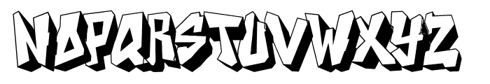 DOCALLISME ON STREET Font LOWERCASE