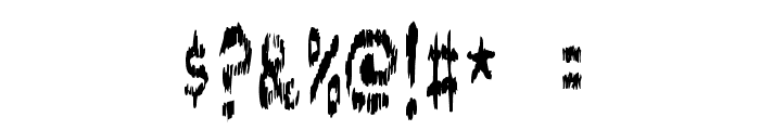 DOKTOR terror Font OTHER CHARS