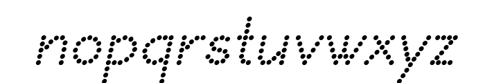 DOTCIRFUL Italic Font LOWERCASE