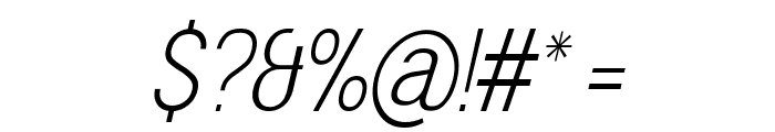 Doboto Thin Italic Font OTHER CHARS