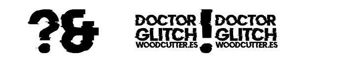 Doctor Glitch Font OTHER CHARS