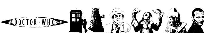 Doctor Who 2006 Font UPPERCASE