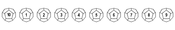 Dodecahedron Font OTHER CHARS