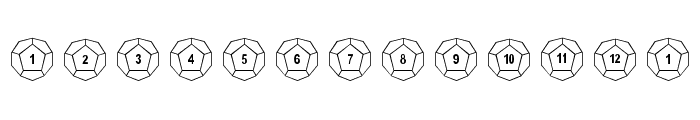 Dodecahedron Font LOWERCASE