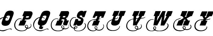 Dodge City Initials Font UPPERCASE