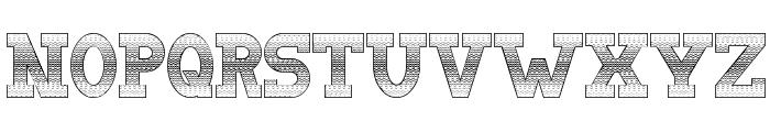 Doergon Wave Font LOWERCASE
