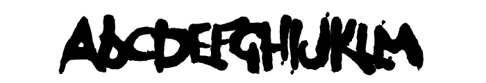 Dog Rough Font UPPERCASE